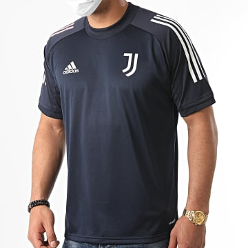 Adidas Performance - Tee Shirt De Sport A Bandes Juventus FR4268 Bleu Marine