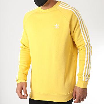Adidas Originals - Sweat Crewneck A Bandes FM3779 Jaune