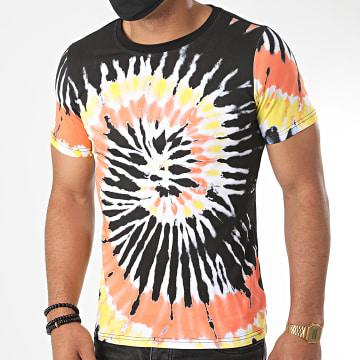 Berry Denim - Tee Shirt Tie Dye XP018 Noir Orange