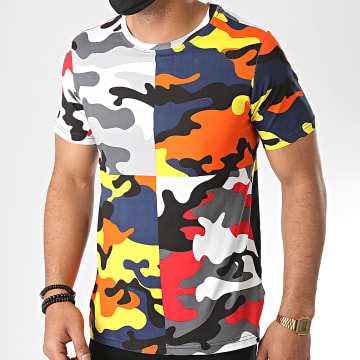Berry Denim - Tee Shirt Camouflage XP020 Multicolore