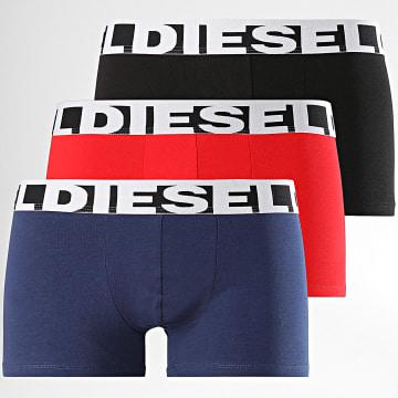 Diesel - Lot de 3 Boxers Shawn 00SAB2-0PAWE Noir Rouge Bleu Marine