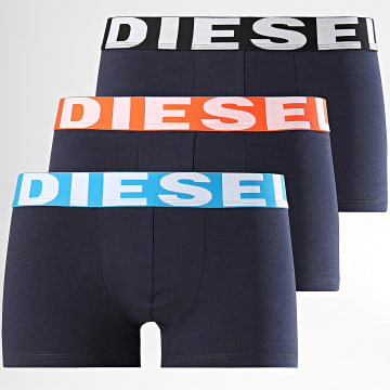 Diesel - Lot de 3 Boxers Shawn 00SAB2-0GAPG Bleu Marine