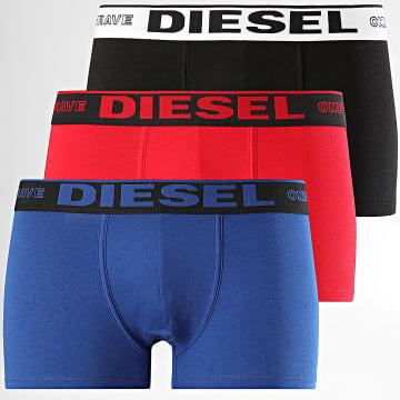 Diesel - Lot De 3 Boxers Damien 00ST3V-0TAWB Bleu Roi Rouge Noir
