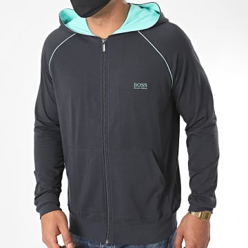 BOSS - Sweat Zippé Capuche 50381879 Bleu Marine