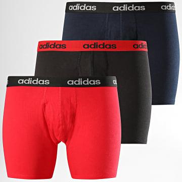 Adidas Performance - Lot De 3 Boxers FS8395 Noir Rouge Bleu Marine