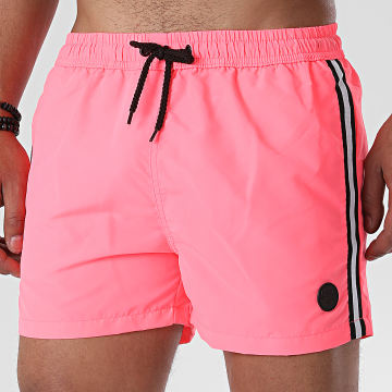 American People - Short De Bain A Bandes Surfing Rose Fluo