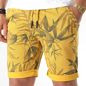 MTX - Short Chino Floral XV-22121 Jaune Moutarde