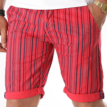 MTX - Short Chino A Rayures XH22103 Rouge