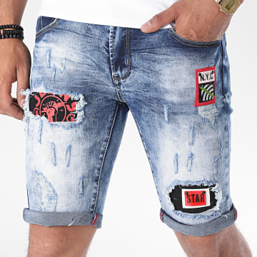 MTX - Short Jean E7503 Bleu Denim