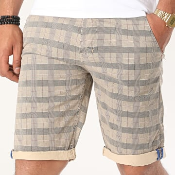 MTX - Short Chino A Carreaux XH22102 Bleu