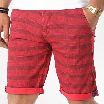 MTX - Short Chino A Carreaux XH22102 Rouge