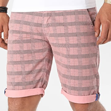 MTX - Short Chino A Carreaux XH22102 Rose