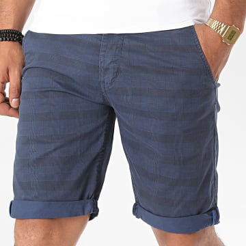 MTX - Short Chino A Carreaux XH22102 Bleu Marine