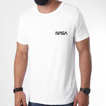 NASA - Tee Shirt Simple Chest Blanc Noir