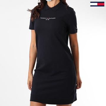 Tommy Hilfiger - Robe Polo Femme Essential WW0WW28414 Bleu Marine