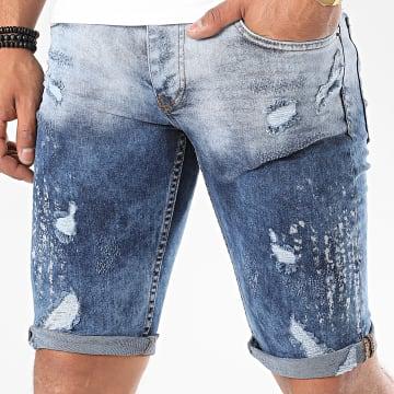 John H - Short Jean 9560 Bleu Denim