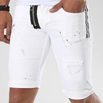 John H - Short Jean 9600 Blanc
