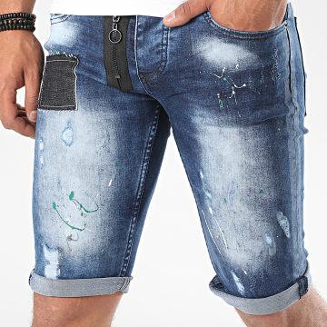John H - Short Jean 9530 Bleu Denim