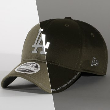 New Era - Casquette 9Forty Stretch Snap 12380830 Los Angeles Dodgers Vert Kaki Refléchissant