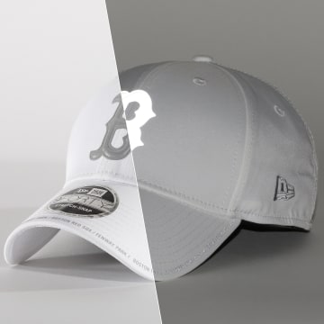 New Era - Casquette 9Forty Stretch Snap 12380831 Boston Red Sox Blanc Refléchissant