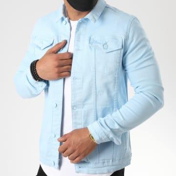Uniplay - Veste Jean 340 Bleu Ciel