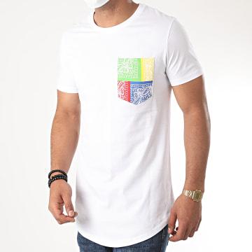 Uniplay - Tee Shirt Poche Oversize Bandana 2672 Blanc