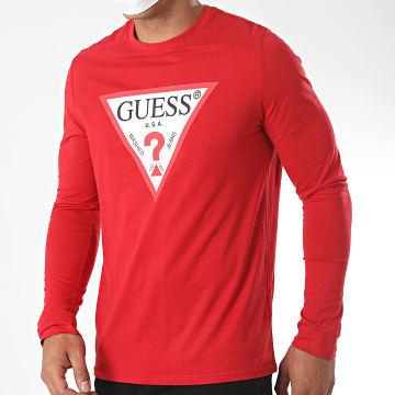 Guess - Tee Shirt Manches Longues M0YI31-I3Z11 Rouge