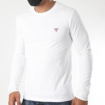 Guess - Tee Shirt Manches Longues M0YI28-J1300 Blanc