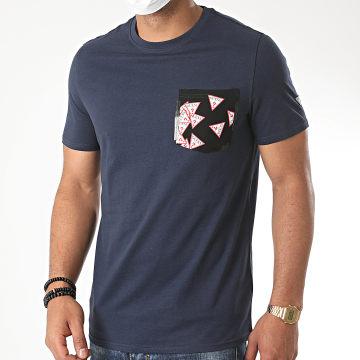 Guess - Tee Shirt Poche M0YI59-I3Z11 Bleu Marine