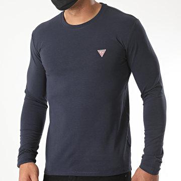Guess - Tee Shirt Manches Longues M0YI28-J1300 Bleu Marine