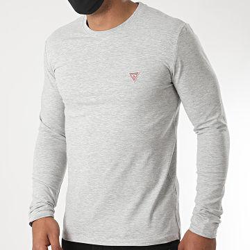 Guess - Tee Shirt Manches Longues M0YI28-J1300 Gris Chiné