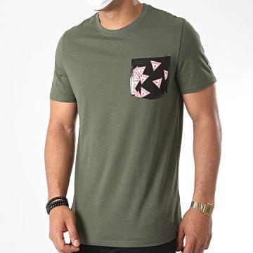Guess - Tee Shirt Poche M0YI59-I3Z11 Vert Kaki