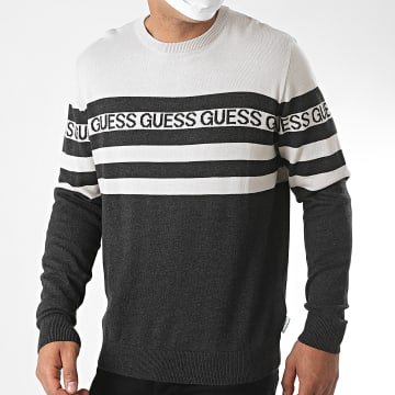 Guess - Pull A Rayures M0YR45-Z2NN0 Gris