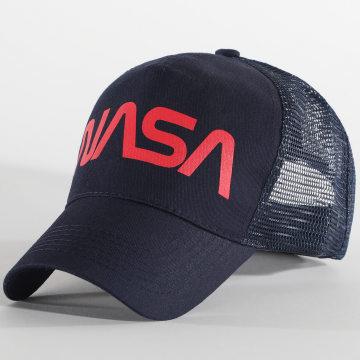 NASA - Casquette Trucker Worm Logo Bleu Marine