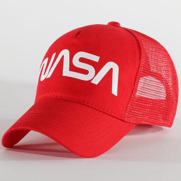 NASA - Casquette Trucker Worm Logo Rouge