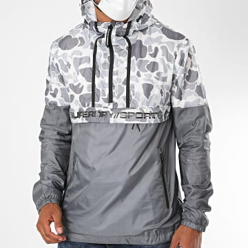 Superdry - Coupe-Vent Capuche Camouflage Urban Overhead MS300085A Gris