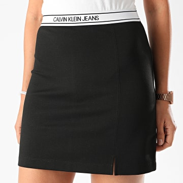 Calvin Klein - Jupe Femme Logo Elastic Milano 4123 Noir