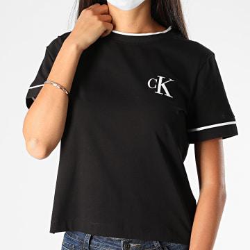 Calvin Klein - Tee Shirt CK Embroidery Tippin 4139 Noir