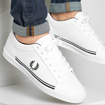Fred Perry - Baskets Baseline Mesh Leather B8214 White