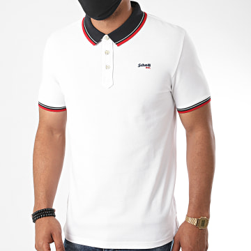 Schott NYC - Polo Manches Courtes Harbours Blanc