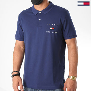 Tommy Hilfiger - Polo Manches Courtes Tommy Flag 4152 Bleu Marine