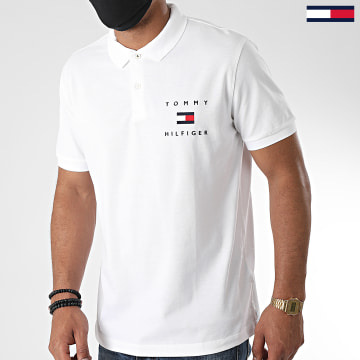 Tommy Hilfiger - Polo Manches Courtes Tommy Flag 4152 Blanc