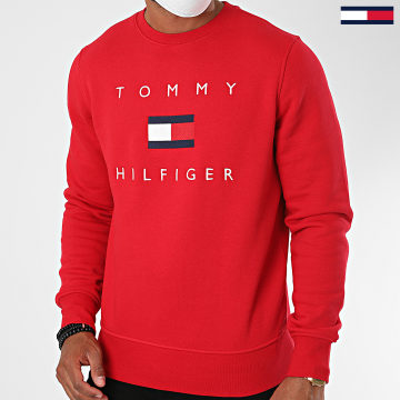 Tommy Hilfiger - Sweat Crewneck Tommy Flag 4204 Rouge