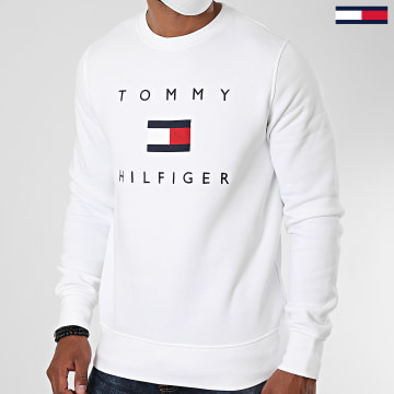 Tommy Hilfiger - Sweat Crewneck Tommy Flag 4204 Blanc