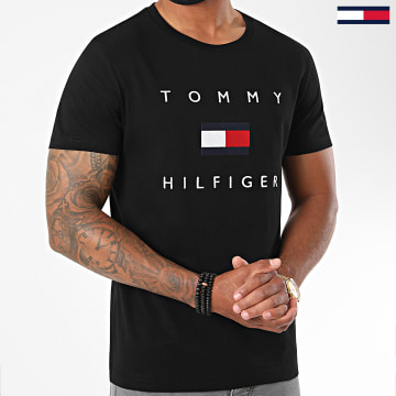 Tommy Hilfiger - Tee Shirt Tommy Flag 4313 Noir