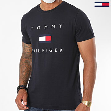 Tommy Hilfiger - Tee Shirt Tommy Flag 4313 Bleu Marine