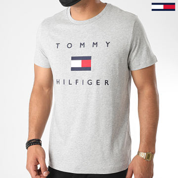 Tommy Hilfiger - Tee Shirt Tommy Flag 4313 Gris Chiné