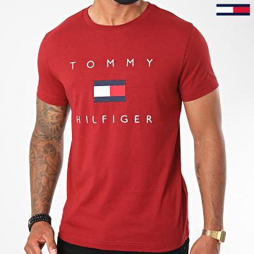 Tommy Hilfiger - Tee Shirt Tommy Flag 4313 Bordeaux