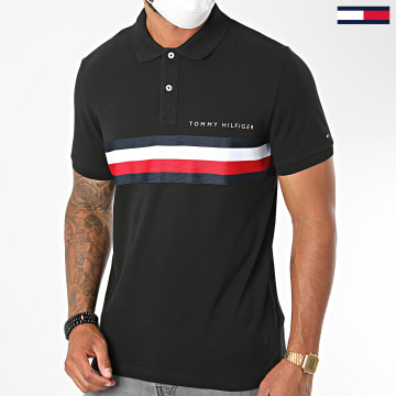 Tommy Hilfiger - Polo Manches Courtes Global STP Chest Tape 4439 Noir