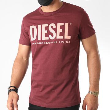 Diesel - Tee Shirt Diego Logo 00SXED-0AAXJ Bordeaux
